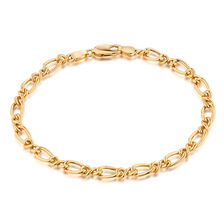 "19cm (7.5"") Figaro Bracelet in 10ct Yellow Gold"