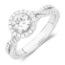 Sir Michael Hill Designer GrandAdagio Engagement Ring with 1.49 Carat TW of Diamonds in 14kt White Gold