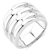 Solid Ridged Ring in Sterling Silver