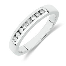 Online Exclusive - Wedding Band with 0.18 Carat TW of Diamonds in 14kt White Gold