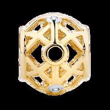 Diamond Set, Black Sapphire & 10ct Yellow Gold Charm
