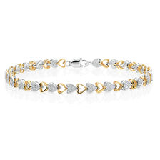 Tennis Bracelet with 1/4 Carat TW of Diamonds in 10kt Yellow & White Gold