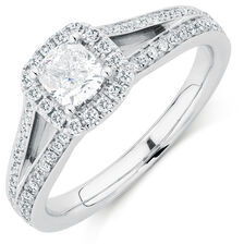 Sir Michael Hill Designer GrandAmoroso Engagement Ring with 0.95 Carat TW of Diamonds in 14ct White Gold