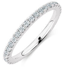 Michael Hill Designer Aria Wedding Band with 3/8 Carat TW of Diamonds in 14kt White Gold