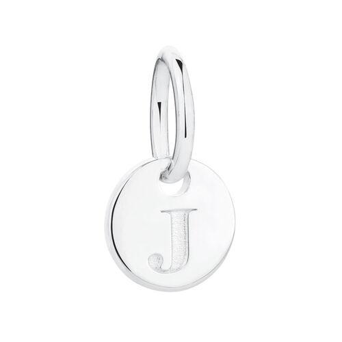 J' Mini Pendant in Sterling Silver