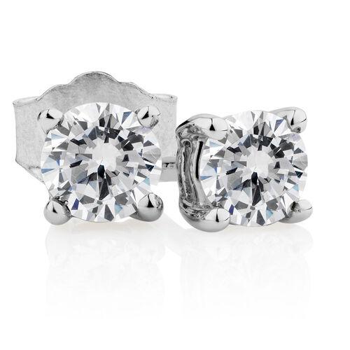 Carat tw diamond stud earrings michael hill - Classic Stud Earrings With 0 46 Carat Tw Of Diamonds In