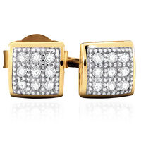 Stud Earrings with Diamonds in 10kt Yellow Gold