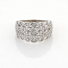 Online Exclusive - Ring with 1/2 Carat TW of Diamonds in 10ct White Gold