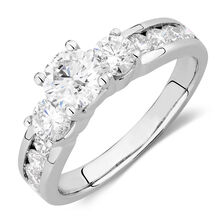 Engagement Ring with 1 3/4 Carat TW of Diamonds in 14ct White Gold