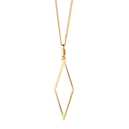 Geometric Pendant in 10kt Yellow Gold