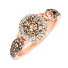 Le Vian Ring with 5/8 Carat TW of Chocolate & Vanilla Diamonds in 14kt Rose Gold