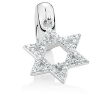 Cubic Zirconia & Sterling Silver Creation Dangle Charm