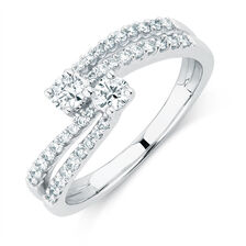 By My Side Engagement Ring with 1/2 Carat TW of Diamonds in 14kt White Gold