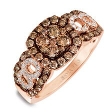 Le Vian Ring with 1 Carat TW of Chocolate & Vanilla Diamonds in 14kt Rose Gold