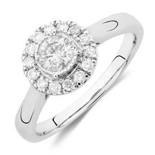 Engagement Ring with 1/2 Carat TW of Diamonds in 10kt White Gold