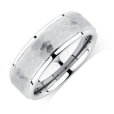 Men's Ring in White Tungsten