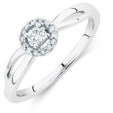 Promise Ring with 1/6 Carat TW of Diamonds in Sterling Silver