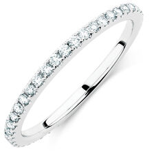 Michael Hill Designer Arpeggio Wedding Band with 1/3 Carat TW of Diamonds in 14kt White Gold
