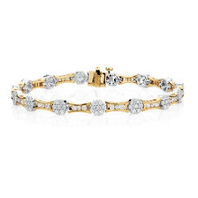 Bracelet with 3 Carat TW of Diamonds in 18ct Yellow & White Gold