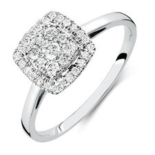 Engagement Ring with 0.33 Carat TW of Diamonds in 10ct White Gold