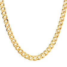 "50cm (20"") Men's Curb Chain in 10kt Yellow Gold"