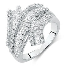 Ring with 1.63 Carat TW of Diamonds in 14kt White Gold