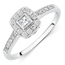 Engagement Ring with 1/3 Carat TW of Diamonds in 10kt White Gold