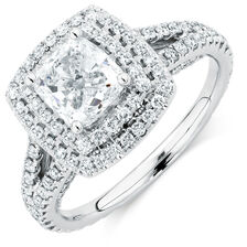 Michael Hill Designer Arpeggio Engagement Ring with 2.45 Carat TW of Diamonds in 14ct White Gold