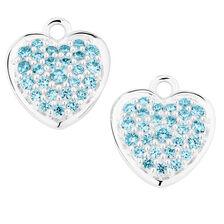 Aqua Cubic Zirconia Heart Earring Drops