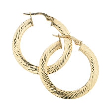 Online Exclusive - Hoop Earrings in 10ct Yellow Gold