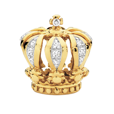 Diamond Set & 10kt Yellow Gold Crown Charm