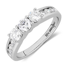 Wedding Band with 1 1/4 TW of Diamonds in 14kt White Gold