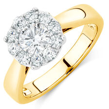 Engagement Ring with 1 Carat TW of Diamonds in 10kt Yellow Gold