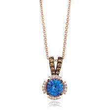 Le Vian Pendant with Tanzanite & 1/6 Carat TW Chocolate & Vanilla Diamonds in 14kt Rose Gold