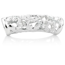 Cubic Zirconia & Sterling Silver Star Pattern Wild Hearts Sleeve