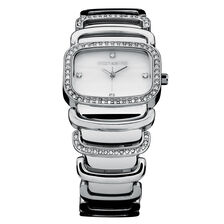 Ladies Watch with Mother of Pearl & Crystals in Stainless Steel