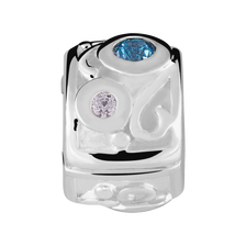 Blue & White Cubic Zirconia Stopper