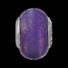 Purple & White Glitter Charm