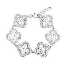"""19cm (7.5"""") Floral Bracelet in Sterling Silver"""