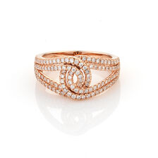 Online Exclusive - Twist Ring with 0.69 Carat TW of Diamonds in 10ct Rose Gold