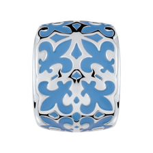 Sterling Silver & Pale Blue Enamel Filigree Charm