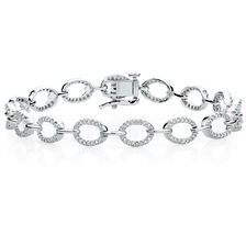 Tennis Bracelet with 3/4 Carat TW of Diamonds in 10ct White Gold