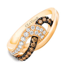 Le Vian Ring with 1/2 Carat TW of Chocolate & Vanilla Diamonds in 14kt Yellow Gold