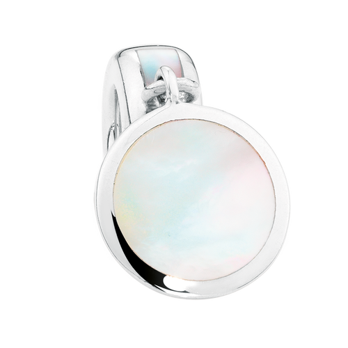 White Mother Of Pearl & Sterling Silver Charm