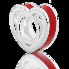 Red Heart Enamel Charm