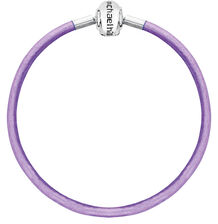 "Purple Triple Wrap Leather 61cm (24"") Charm Bracelet"