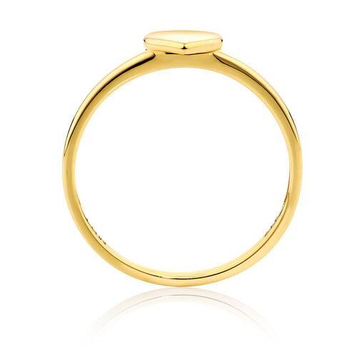 Heart Stack Ring in 10ct Yellow Gold
