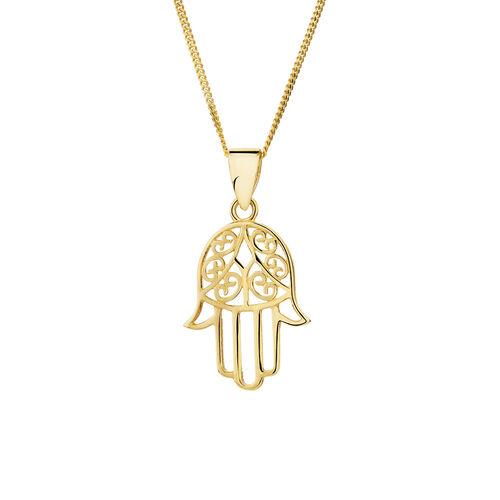 Gold fist pendant
