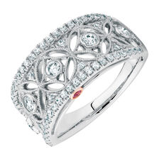 Michael Hill Designer Ring with 5/8 Carat TW of Diamonds in 14kt White & Rose Gold