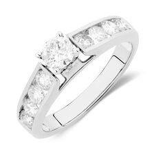 Engagement Ring with 1.16 Carat TW of Diamonds in 14ct White Gold